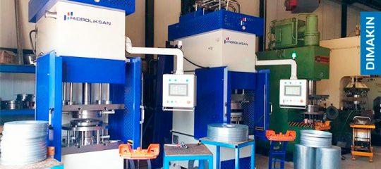 prensas hidráulicas para produção de discos metálicos