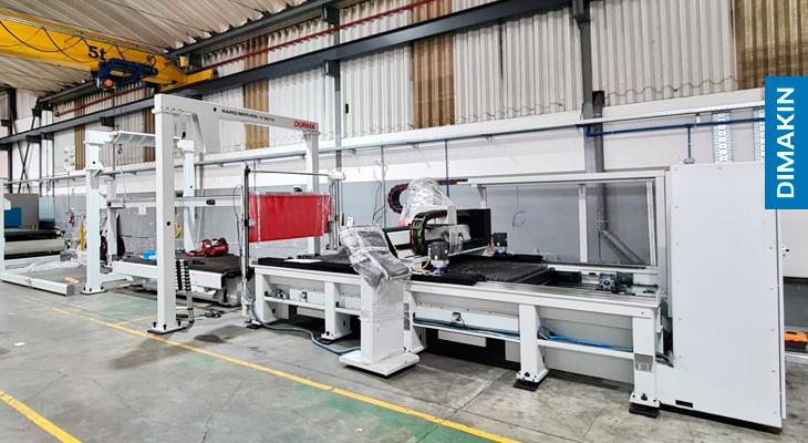 Máquina Corte Laser Chapa com Sistema de Carga e Descarga Automática DIMAKIN