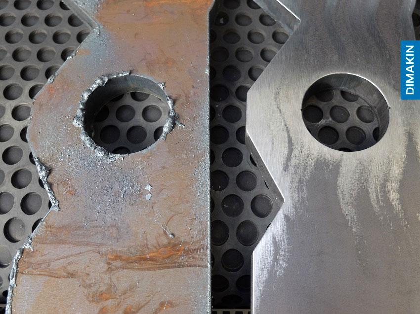 Remoção de Rebarba: antes e depois